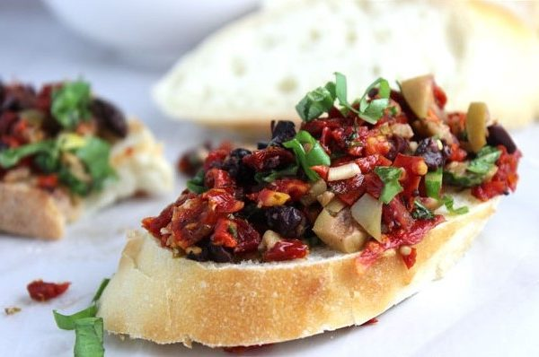 Olive and Sun-Dried Tomato Tapenade
